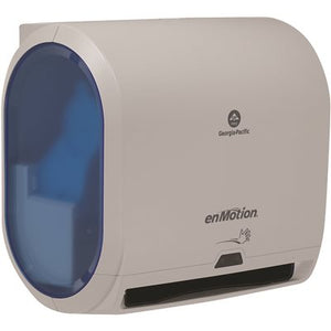 "GP ENMOTION® IMPULSE® 10"" 1-ROLL AUTOMATED, TOUCHLESS ROLL PAPER TOWEL DISPENSER, GRAY 59487A"