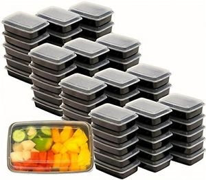 Pans Pro Meal Prep Containers BPA Free Portion Control Bento Boxes 1 Compartment 28 OZ