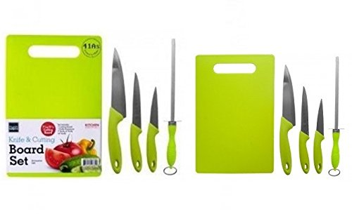 Cutting Board Set Plus Kitchen Knives