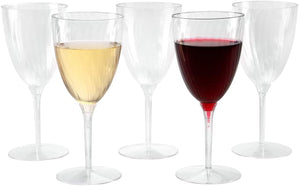Lillian Tablesettings Premium Wine Glasses, Disposable Plastic Cups, 96 Count 8 Oz.