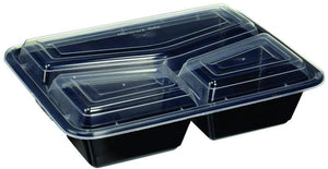 Pans Pro Meal Prep Containers BPA Free Portion Control Bento Boxes 3 Compartment