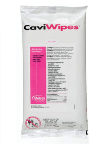 "Metrex 13-1224 CaviWipes Surface Disinfectant Towelette Wipe, 7"" Width, 9"" Length (Pack of 45)"