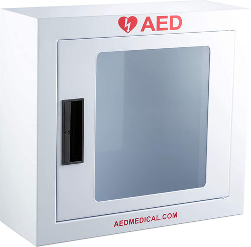 Stainless Steel AED Cabinet | 16 x 6 x 15 Inch | With Door-Activated Alarm
