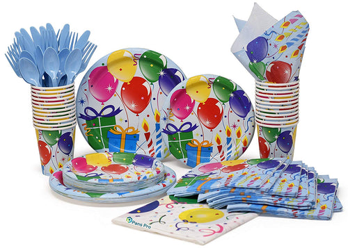 32 Serving Paper Set,  (Birthday Balloon)