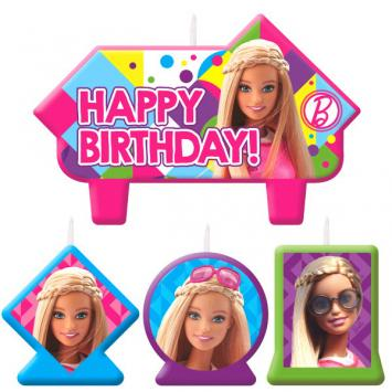 Barbie Sparkle Birthday Candle Set (4 in a package)