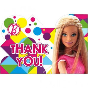 Barbie Sparkle Postcard Thank You Cards (16 in a package)