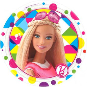 "Barbie Sparkle Round Plates, 7"" (16 in a package)"