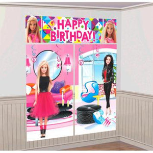 Barbie Sparkle Scene Setters Wall Decorating Kit (5 in a package)