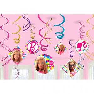 Barbie Sparkle Value Pack Foil Swirl Decorations (24 in a package)