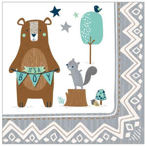 Bear-Ly Wait Beverage Napkins (32 in a package)