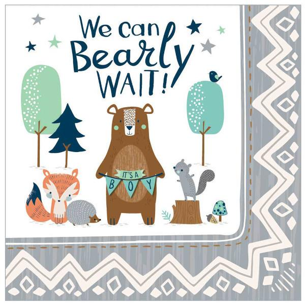Bear-Ly Wait Luncheon Napkins (32 in a package)