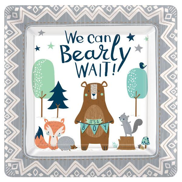 Bear-Ly Wait Square Plates, 10