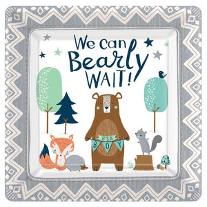 "Bear-Ly Wait Square Plates, 10"" (16 in a package)"