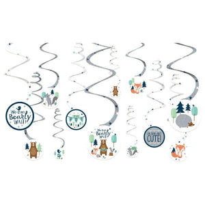 Bear-Ly Wait Value Pack Spiral Decorations (12 in a package)