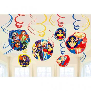 DC Super Hero Girls Value Pack Foil Swirl Decorations (24 in a package)