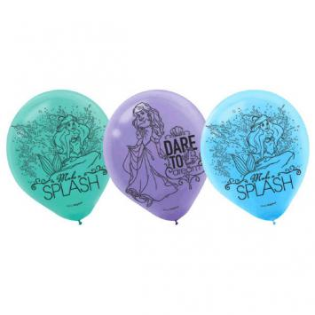 Disney Ariel Dream Big Printed Latex Balloons (12 in a package)