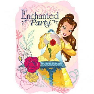 Disney Beauty And The Beast Postcard Invitations (16 in a package)