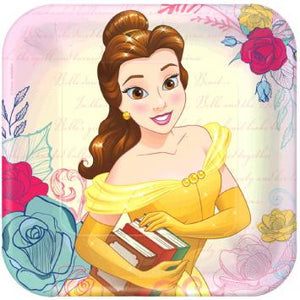 "Disney Beauty And The Beast Square Plates, 9"" (16 in a package)"