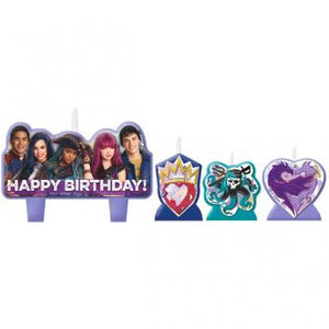 Disney Descendants 2 Birthday Candle Set (4 in a package)