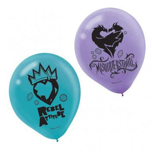 Disney Descendants 2 Latex Balloons (12 in a package)