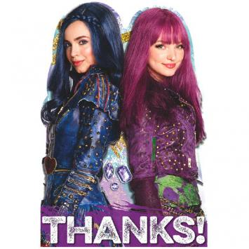 Disney Descendants 2 Postcard Thank You Cards (16 in a package)