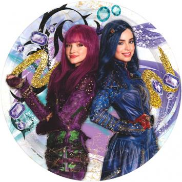 Disney Descendants 2 Round Plates, 9