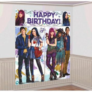 Disney Descendants 2 Scene Setters Wall Decorating Kit (5 in a package)
