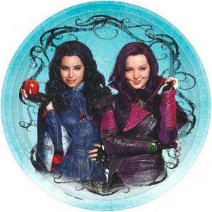 "Disney Descendants Round Plates, 9"" (16 in a package)"