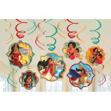 Disney Elena of Avalor Value Pack Foil Swirl Decorations (24 in a package)
