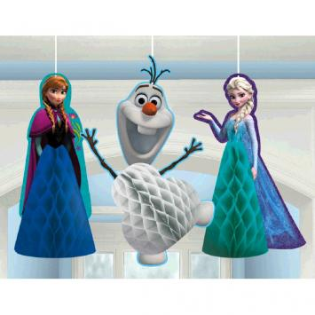 Disney Frozen Honeycomb Decorations (3 in a package)