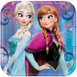"Disney Frozen Magic Square Plates, 7"" (16 in a package)"