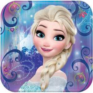"Disney Frozen Magic Square Plates, 9"" (16 in a package)"