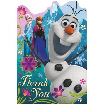 Disney Frozen Postcard Thank You Cards (16 in a package)