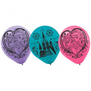 Disney Frozen Printed Latex Balloons (12 in a package)