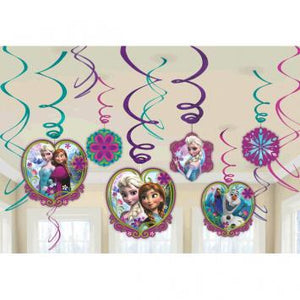 Disney Frozen Value Pack Foil Swirl Decorations (24 in a package)