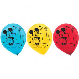 Disney Mickey's Fun To Be One Latex Balloons - Assorted Colors (30 in a package)
