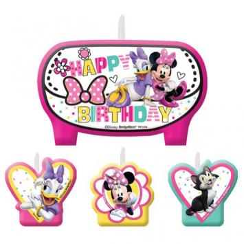 Disney Minnie Mouse Happy Helpers Birthday Candle Set (4 in a package)