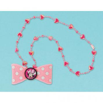 Disney Minnie Mouse Happy Helpers Bow Necklace