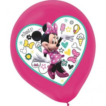 Disney Minnie Mouse Happy Helpers Color Printed Latex Balloons (10 in a package)