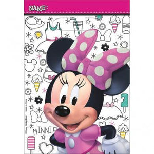 Disney Minnie Mouse Happy Helpers Folded Loot Bags - Plastic (16 in a package)