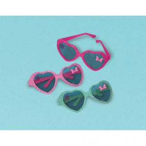 Disney Minnie Mouse Happy Helpers Glitter Heart Glasses (6 in a package)