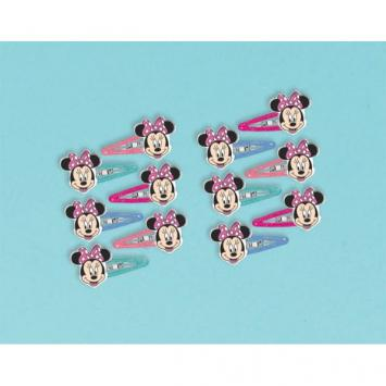 Disney Minnie Mouse Happy Helpers Hair Clips (12 in a package)
