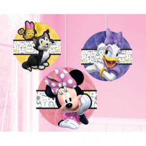 Disney Minnie Mouse Happy Helpers Honeycomb Decorations (3 in a package)