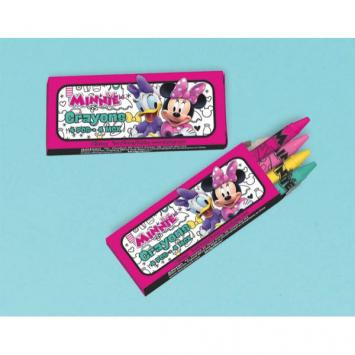 Disney Minnie Mouse Happy Helpers Mini Crayon Favors (12 in a package)