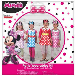 Disney Minnie Mouse Happy Helpers Party Wearables Kit (16 in a package)
