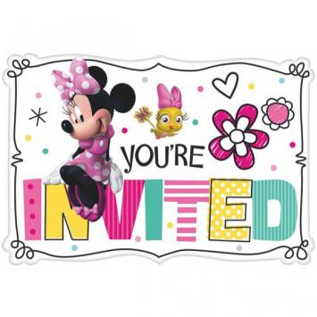 Disney Minnie Mouse Happy Helpers Postcard Invites (16 in a package)