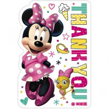 Disney Minnie Mouse Happy Helpers Postcard Thank You (16 in a package)