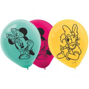 Disney Minnie Mouse Happy Helpers Printed Latex Balloons (12 in a package)