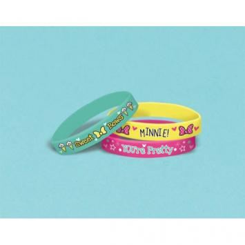 Disney Minnie Mouse Happy Helpers Rubber Bracelets (6 in a package)