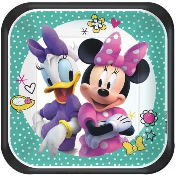 Disney Minnie Mouse Happy Helpers Square Plates, 7
